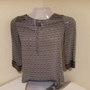 Reitmans 3/4 sleeved see though top
